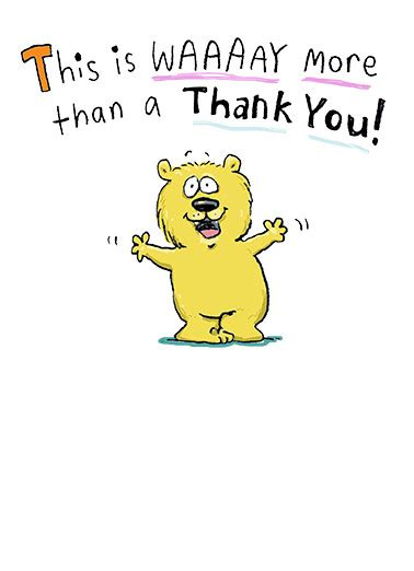 Funny Thank You Hug Cartoon