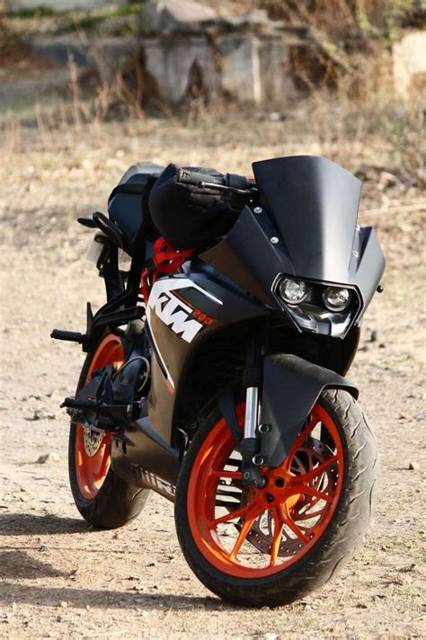 Ktm Rc 200 Backgrounds by Ktm Rc 200 With Wrapped Black Visor Motoporn Ktm Rc