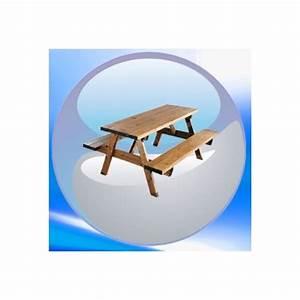Table Picnic Bois Pas Cher : table picnic en bois pas cher clic discount ~ Melissatoandfro.com Idées de Décoration