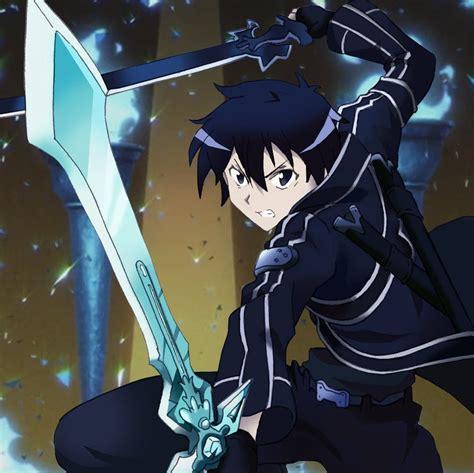 anime fight with sword sword kirito dual wield www pixshark