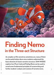 Finding Nemo U0026 39  In The Three-act Structure