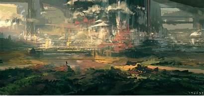 Landscape Painting Artwork Desktop Wallpapers Backgrounds Wallpaperaccess