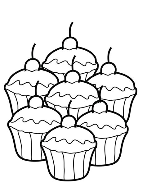 Cupcake Coloring Pages Bestofcoloringcom