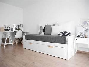 Gästezimmer Einrichten Ikea : guestroom ikea brimnes guestbed daybed atelier g stezimmer bett und kinderzimmer ~ Buech-reservation.com Haus und Dekorationen
