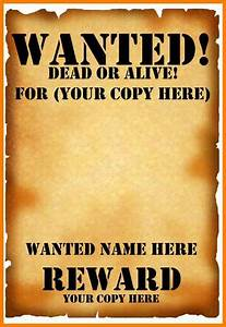 8  Editable Wanted Posters