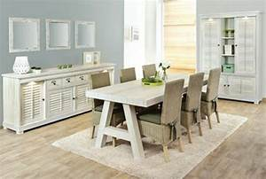 Salle a manger blanc 28 images salle 224 manger compl for Deco cuisine avec table a manger bois et blanc