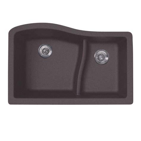 undermount kitchen sinks granite swan undermount granite 32 in 0 basin kitchen 6595