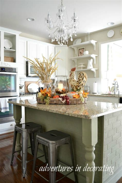 decorating kitchen islands kitchen fall decor ideas that are simply beautiful 3116