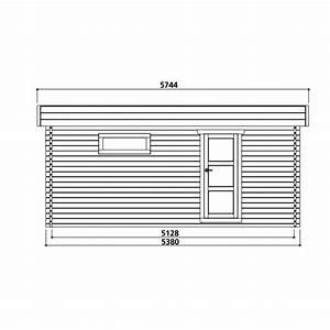 Garage En Bois Toit Plat : garage toit plat en bois massif 19 26m madriers 40mm solid ~ Dailycaller-alerts.com Idées de Décoration