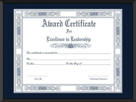 printable  leader award certificate template