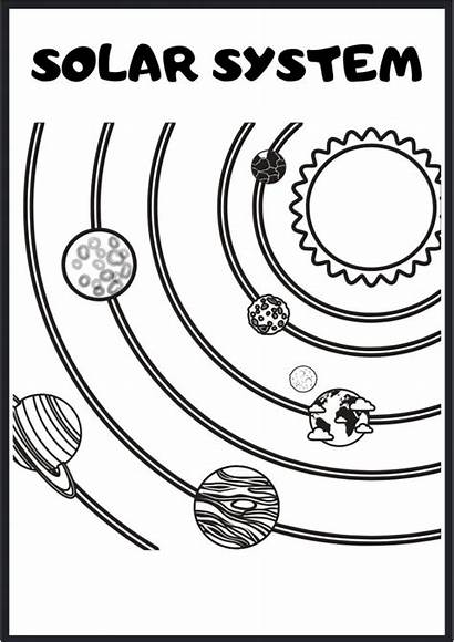 Space Outer Activity Sheet Coloring Pages Themed