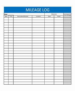 mileage templates printable pictures to pin on pinterest With mileage calendar template