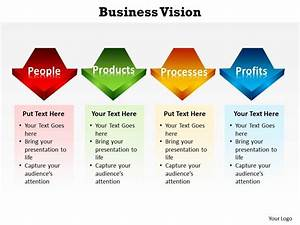 Business Vision With Arrows In Line Powerpoint Diagram