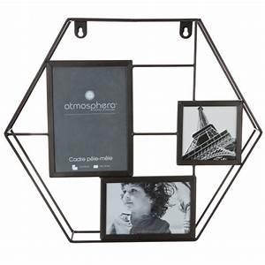 Pele Mele Metal : p le m le en m tal 3 photos hexagone 40cm noir ~ Teatrodelosmanantiales.com Idées de Décoration