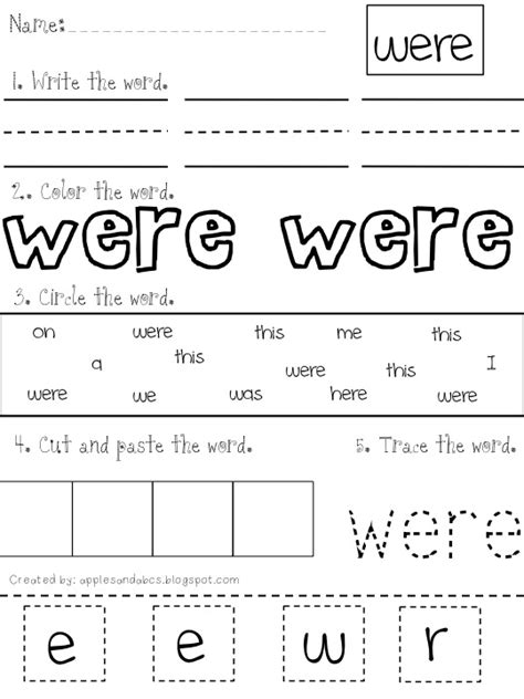 Another Sight Word Trace,find, Print, Color Cut And Paste (make My Own?) Love, Love, Love This