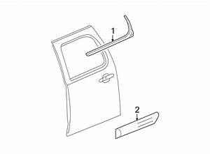 Chevrolet Avalanche Door Window Belt Weatherstrip