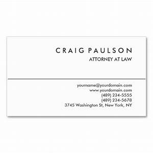 Black White Consultant Attorney Business Card