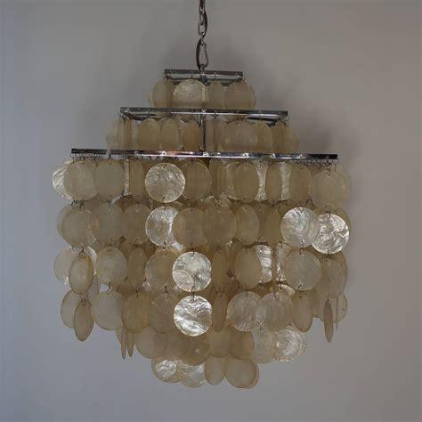 capiz shell chandelier capiz shell chandelier by verner panton at 1stdibs