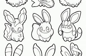 pokemon coloring pages eevee evolutions together | Just ...