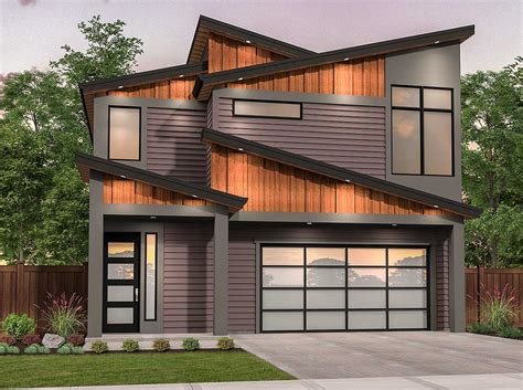 Edgy Modern House Plan With Shed Roof Design