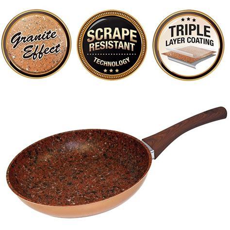 starlyf copper stone pan  stick  scratchproof pan