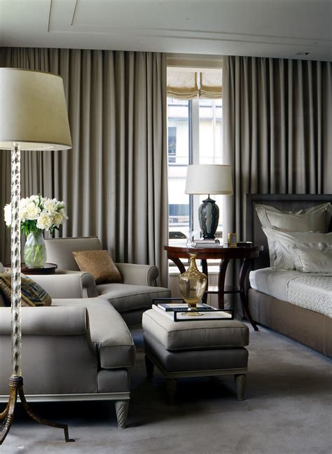 Gray Bedroom Drapes by Impressive Blackout Curtain Liner In Bedroom Traditional