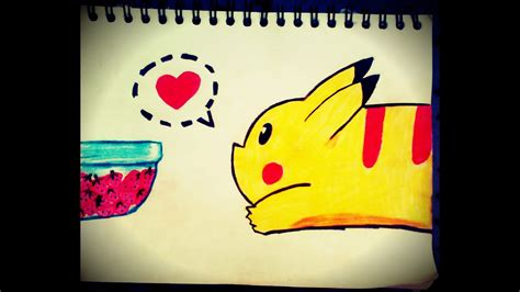 como dibujar facil  rapido  pikachu youtube
