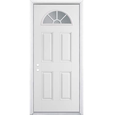 32 x 79 exterior door shop masonite 4 panel insulating fan lite right