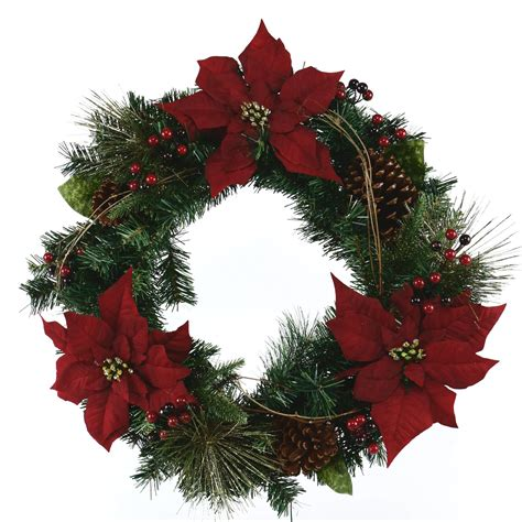 jaclyn smith poinsettia wreath christmas decoration