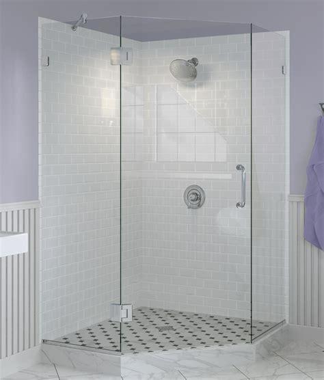 Frameless Neo Angle Shower Doors by Neo Angle Frameless Glass Shower Enclosures