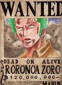 WANTED Roronoa Zoro by Salvo91 on DeviantArt