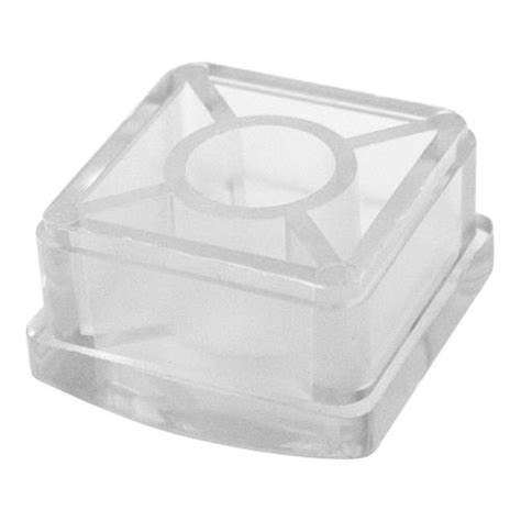 commercial 1 1 4 square plastic end cap for 18