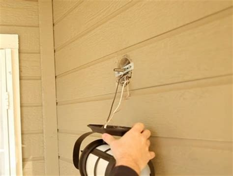 Installing Sconces - how to install an outdoor wall sconce