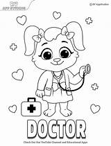Doctor Coloring Pages Printable sketch template