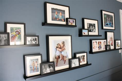 ikea picture ledge diy family room renovation and reveal