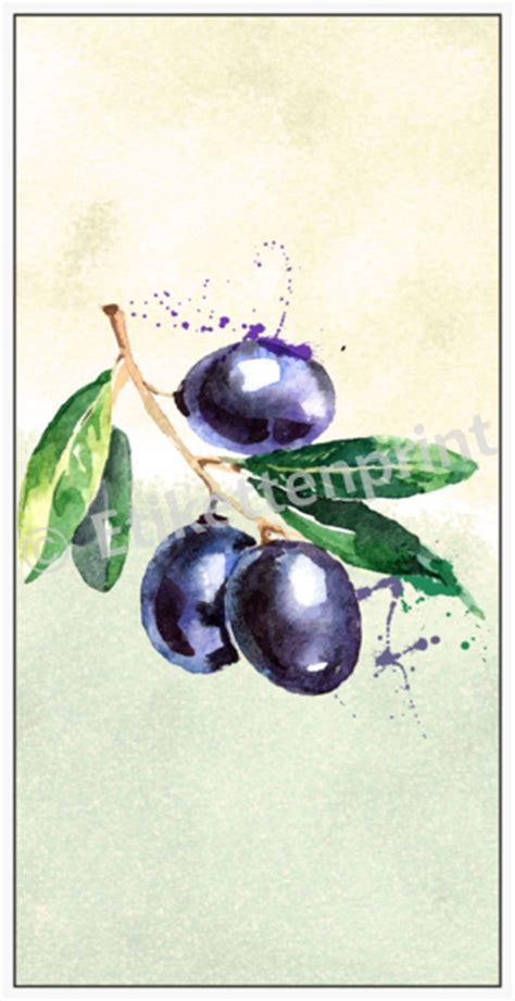 flaschenetiketten olivenoel schwarze oliven  groessen