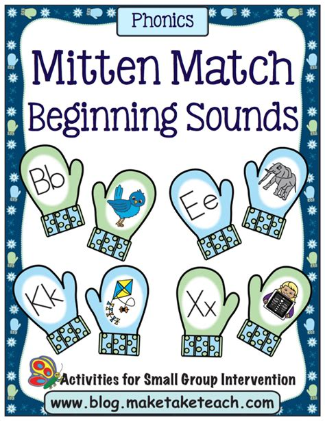 mitten match activities for rhyme beginning sounds and 534 | mmbspg1areduced