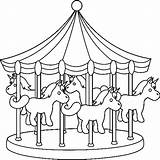 Park Amusement Pages Coloring Colouring Miscellaneous Carnival Colour Printable Getdrawings Getcolorings Template sketch template