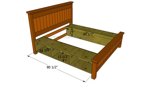 make a bed frame how to build a bed frame with drawers howtospecialist how to build step by step diy plans