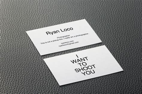 clean  simple business card   photography