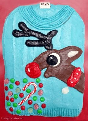 reindeer ugly christmas sweater cake funny party ideas