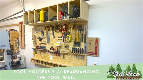 slat tool wall  tool holders youtube