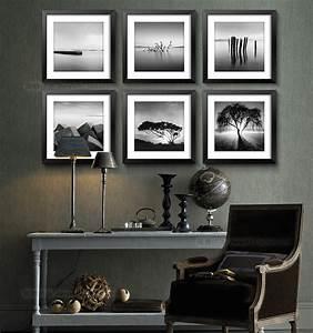 Wall art decor design black and white framed