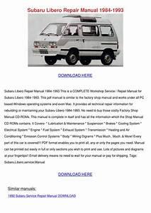 Subaru Libero Repair Manual 1984 1993 By Margaritaholloway