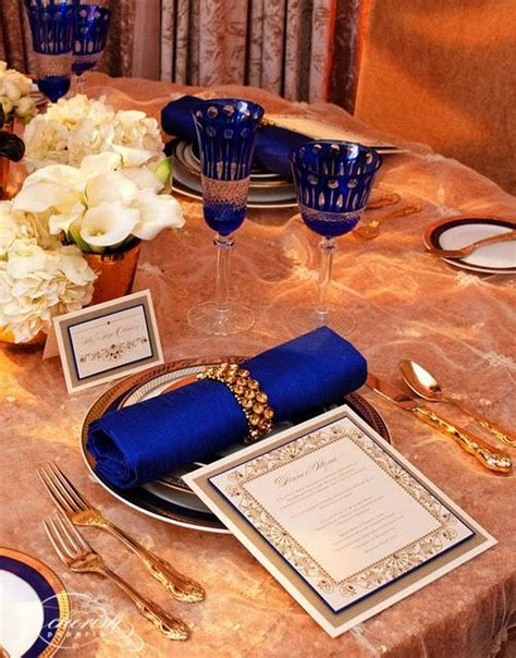 royal blue gold cake ideas and designs