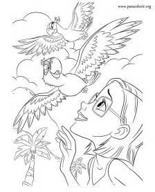 rio   linda jewel  blu coloring page