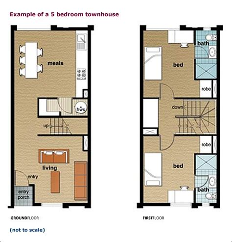townhouse designs and floor plans the university of adelaide village accommodation service