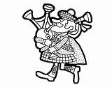 Scottish Bagpipes Coloring Cartoon Pages Scotland Drawing Kilt Template Printable Sketch Flag Getcolorings Getdrawings sketch template