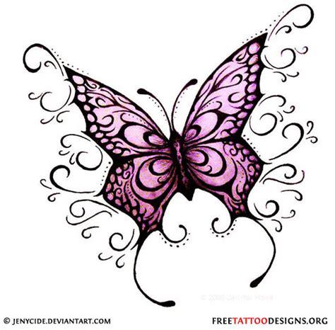 butterfly tattoos feminine  tribal butterfly