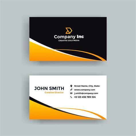 cool orange  black business card